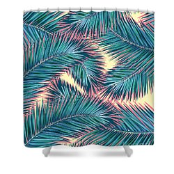 Palm Trees  Shower Curtain by Mark Ashkenazi