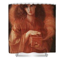 Pandora Shower Curtain by Dante Charles Gabriel Rossetti