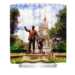 Partners Shower Curtain by Sandy MacGowan