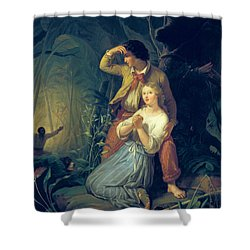 Paul And Virginie Shower Curtain by French School