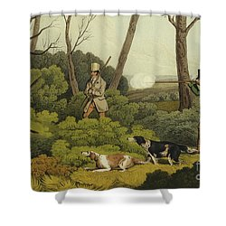 Pheasant Shooting Shower Curtain by Henry Thomas Alken