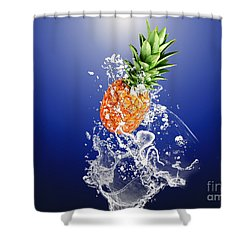 Pineapple Splash Shower Curtain by Marvin Blaine