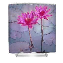 Pink Lily Blossom Shower Curtain by Ron Dahlquist - Printscapes