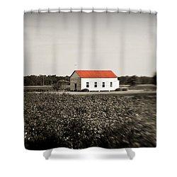 Plantation Church Shower Curtain by Scott Pellegrin