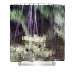 Pond Reflect Shower Curtain by Karol Livote