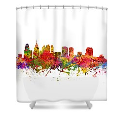 Philadelphia Cityscape 08 Shower Curtain by Aged Pixel