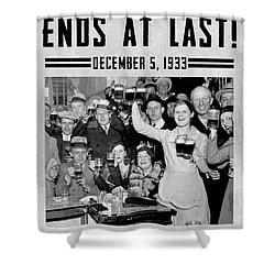 Prohibition Ends Celebrate Shower Curtain by Jon Neidert