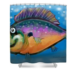 Rainbow Fish Shower Curtain by Kevin Middleton