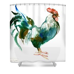 Rooster Shower Curtain by Suren Nersisyan
