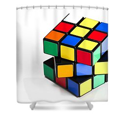 Rubiks Cube Shower Curtain by Photo Researchers