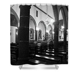 Sao Miguel Arcanjo Church Shower Curtain by Gaspar Avila