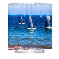 Seaside Fun Shower Curtain by Mal Bray