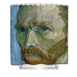 Self-portrait Shower Curtain by Vincent Van Gogh