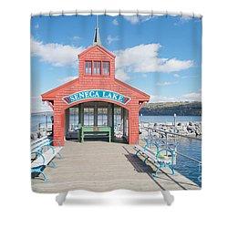 Seneca Lake Shower Curtain by William Norton
