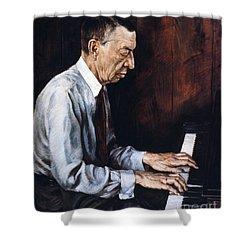 Sergei Rachmaninoff Shower Curtain by Granger