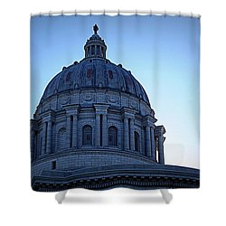 Show-me State Capitol Shower Curtain by Cricket Hackmann