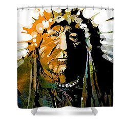 Sitting Bear Shower Curtain by Paul Sachtleben