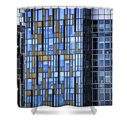 Skyscrapers Shower Curtain by Joana Kruse