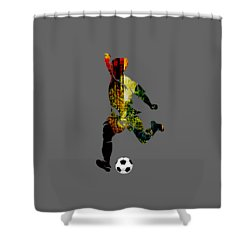 Soccer Collection Shower Curtain by Marvin Blaine