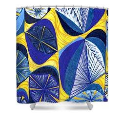 Solar Rays Shower Curtain by Kim Sy Ok