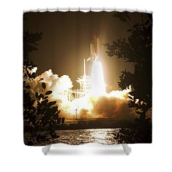 Space Shuttle Endeavour Liftoff Shower Curtain by Stocktrek Images