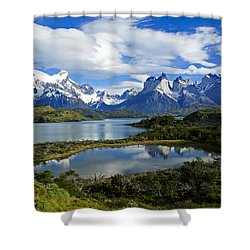 Springtime In Patagonia Shower Curtain by Michele Burgess
