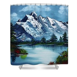 Take A Breath Shower Curtain by Barbara Teller