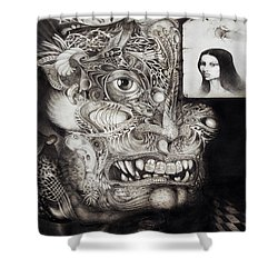 The Beast Of Babylon Shower Curtain by Otto Rapp