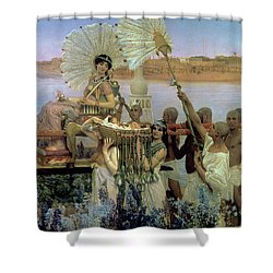 The Finding Of Moses Shower Curtain by Sir Lawrence Alma Tadema