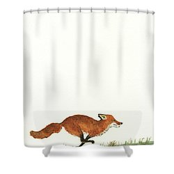 The Fox And The Pelicans Shower Curtain by Juan Bosco