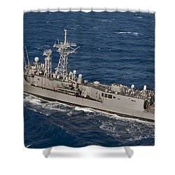 The Guided-missile Frigate Uss Reuben Shower Curtain by Stocktrek Images