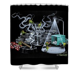 The Heist Shower Curtain by Michael Godard