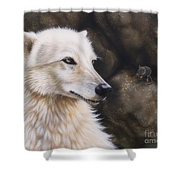 The Mouse Shower Curtain by Sandi Baker