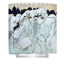 The Night Before Christmas Shower Curtain by Arthur Rackham