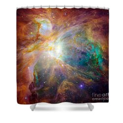 The Orion Nebula Shower Curtain by Stocktrek Images