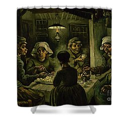The Potato Eaters, 1885 Shower Curtain by Vincent Van Gogh