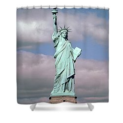 The Statue Of Liberty Shower Curtain by American School