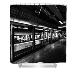 The Underground System Shower Curtain by David Pyatt