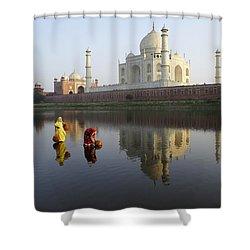 Timeless Taj Mahal Shower Curtain by Michele Burgess