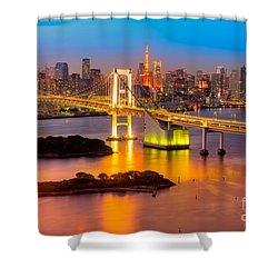 Tokyo - Japan Shower Curtain by Luciano Mortula