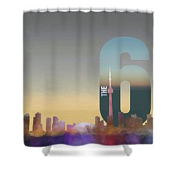 Toronto Skyline - The Six Shower Curtain by Serge Averbukh