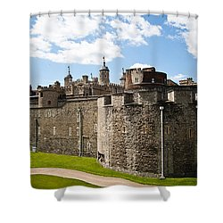 Tower Of London Shower Curtain by Dawn OConnor
