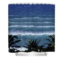 Trade Lines Shower Curtain by Sean Davey
