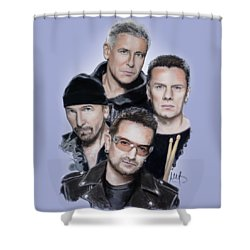 U2 Shower Curtain by Melanie D