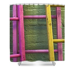 Upwardly Mobile Shower Curtain by Skip Hunt
