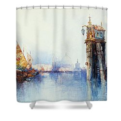 Venice Shower Curtain by Thomas Moran
