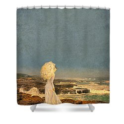 Victorian Lady By The Sea Shower Curtain by Jill Battaglia