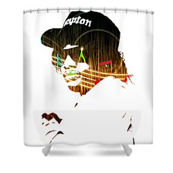 Eazy E Straight Outta Compton Shower Curtain by Marvin Blaine