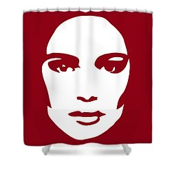 Illustration Of A Woman In Fashion Shower Curtain by Frank Tschakert
