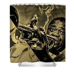 Louis Armstrong Collection Shower Curtain by Marvin Blaine
